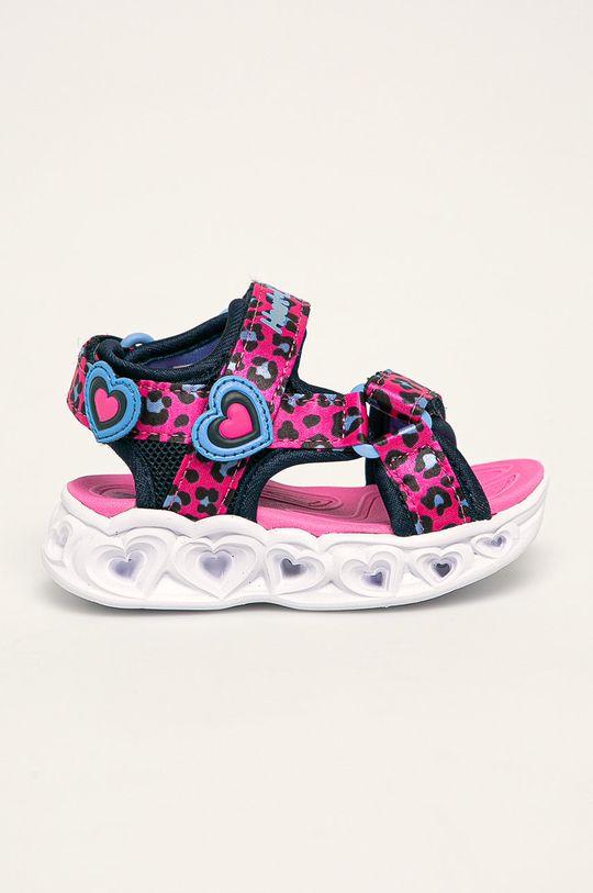 ostry różowy Skechers - Sandały dziecięce Dziewczęcy