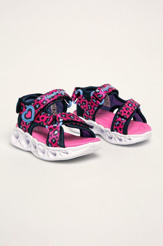 Skechers - Sandały dziecięce ostry różowy