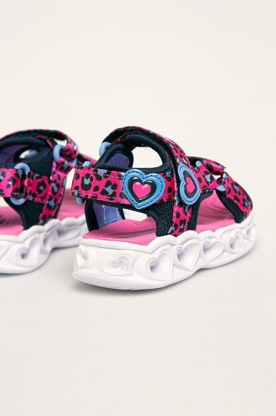 ostry różowy Skechers - Sandały dziecięce