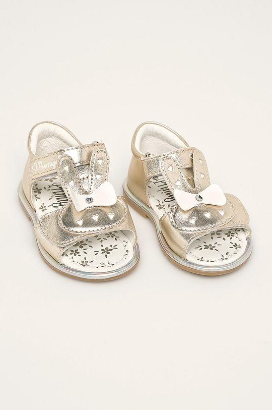 Primigi - Detské sandále zlatá