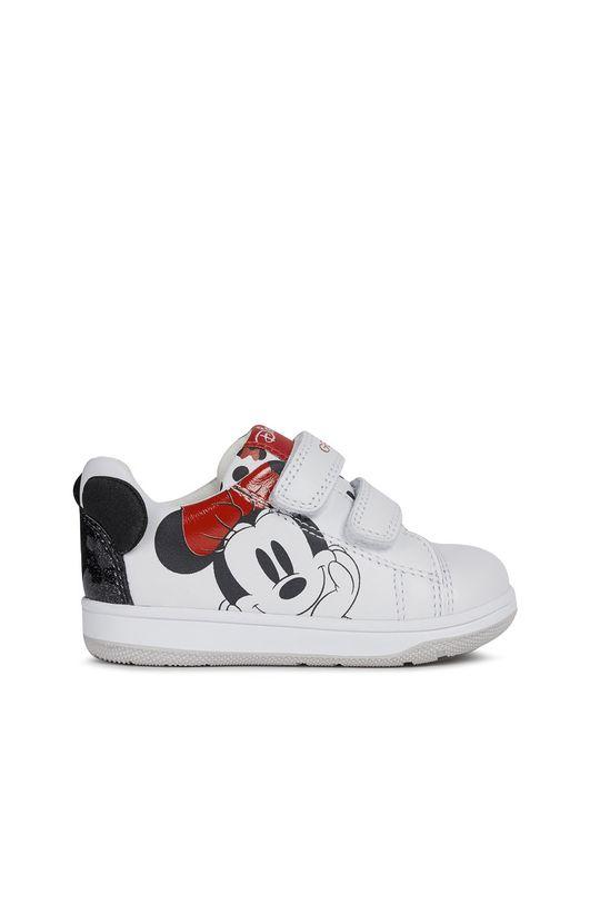 alb Geox - Pantofi copii De fete
