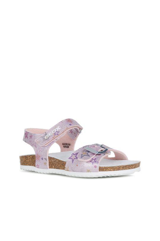 Geox - Sandały dziecięce różowy