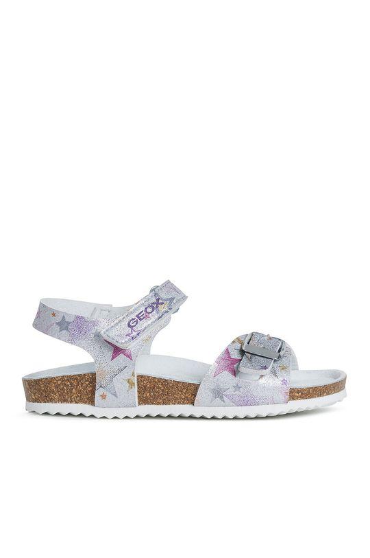 stříbrná Geox - Dětské sandály Dívčí