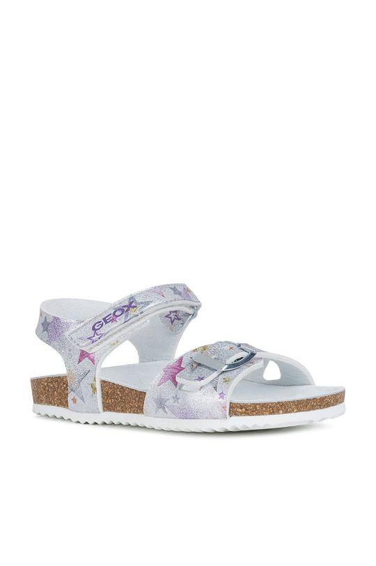 Geox - Dětské sandály stříbrná