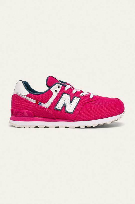 ostry różowy New Balance - Buty dziecięce GC574SOE Dziewczęcy