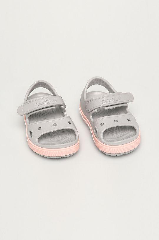 Coqui - Dětské sandály světle šedá