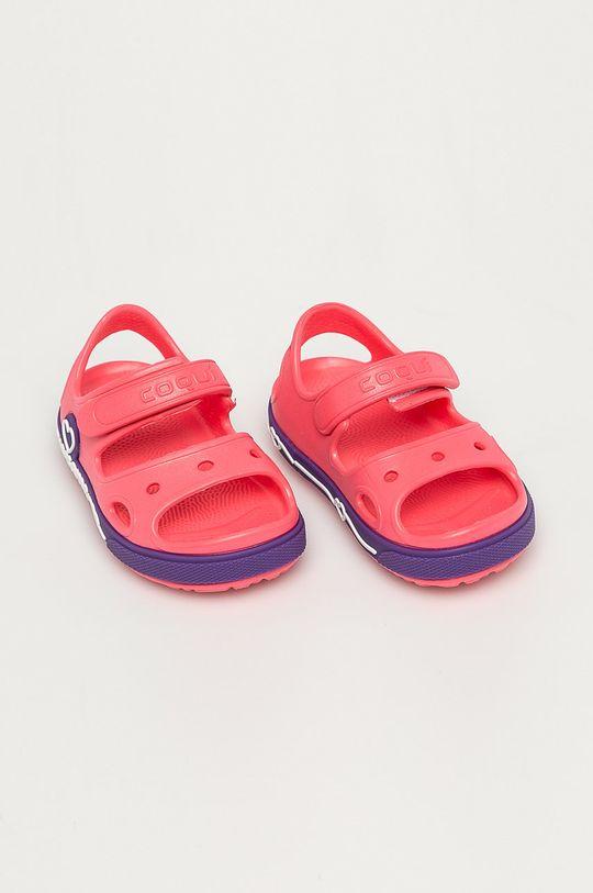 Coqui - Dětské sandály ostrá růžová