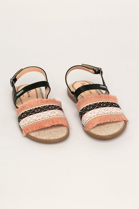 Pepe Jeans - Dětské sandály Elsa Etnic fialovo-růžová