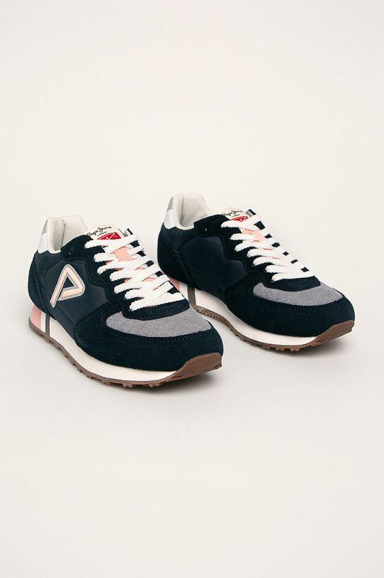 Pepe Jeans - Dětské boty Klein Archive Summer G Chambray námořnická modř