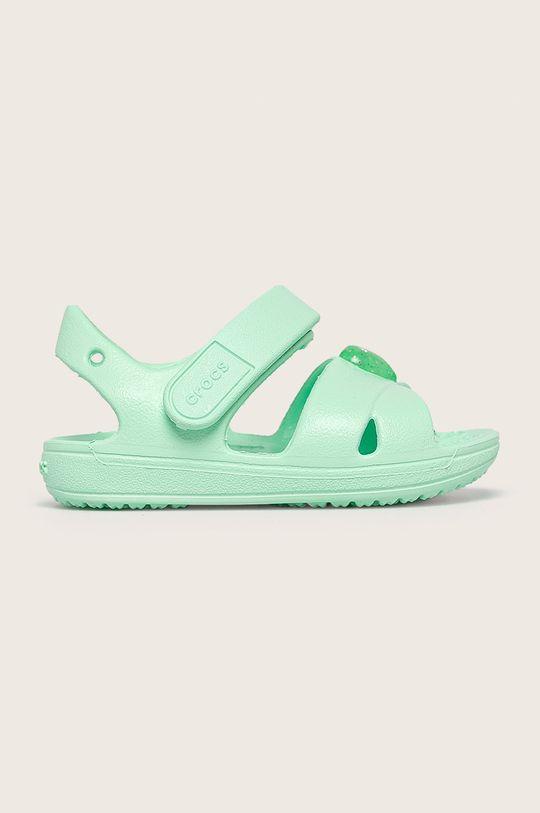 светлозелен Crocs - Детски сандали Момиче