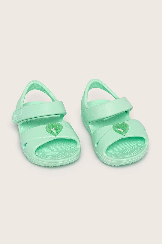 Crocs - Детски сандали светлозелен