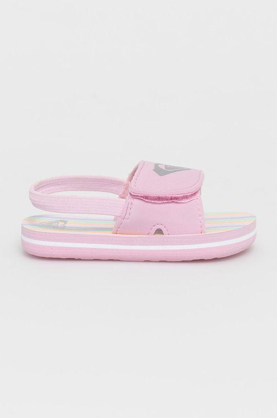 pastelově růžová Roxy - Dětské sandály Dívčí