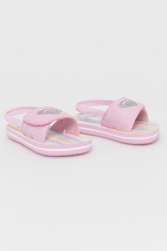 Roxy - Dětské sandály pastelově růžová