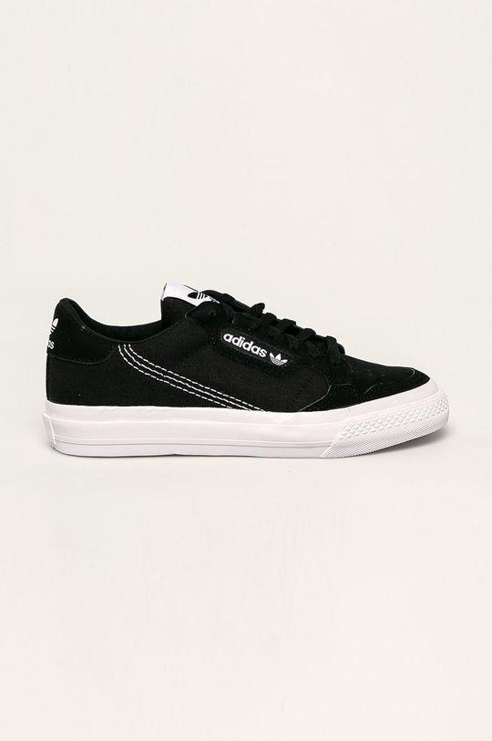 černá adidas Originals - Dětské boty Continental Vulc Dětský