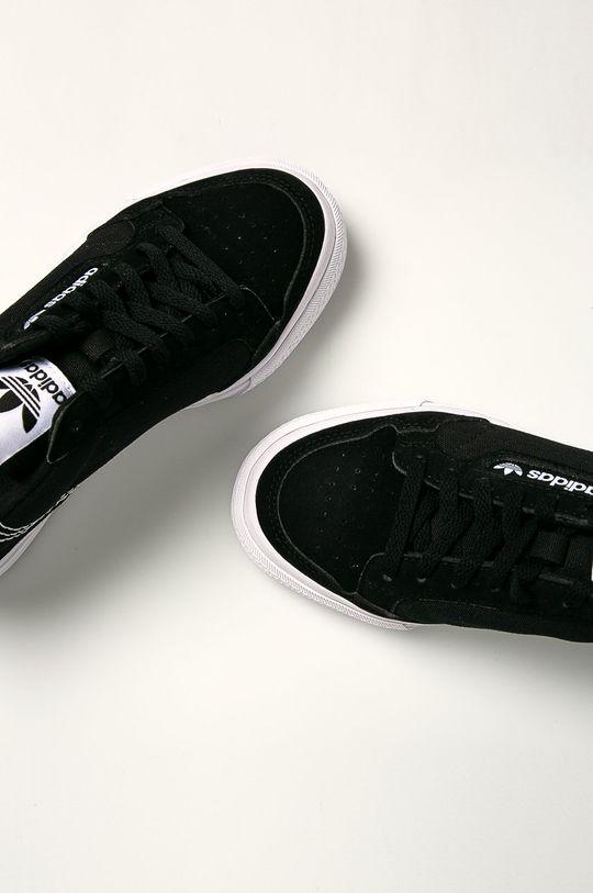 černá adidas Originals - Dětské boty Continental Vulc