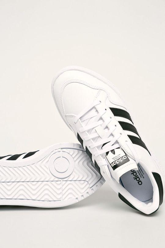 biały adidas Originals - Buty dziecięce Team Court