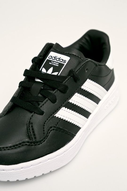 černá adidas Originals - Dětské boty Team Court C