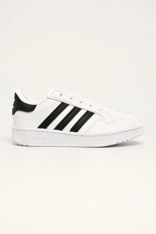 bílá adidas Originals - Dětské boty Team Court Dětský