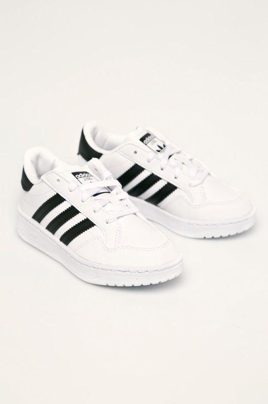 adidas Originals - Dětské boty Team Court bílá