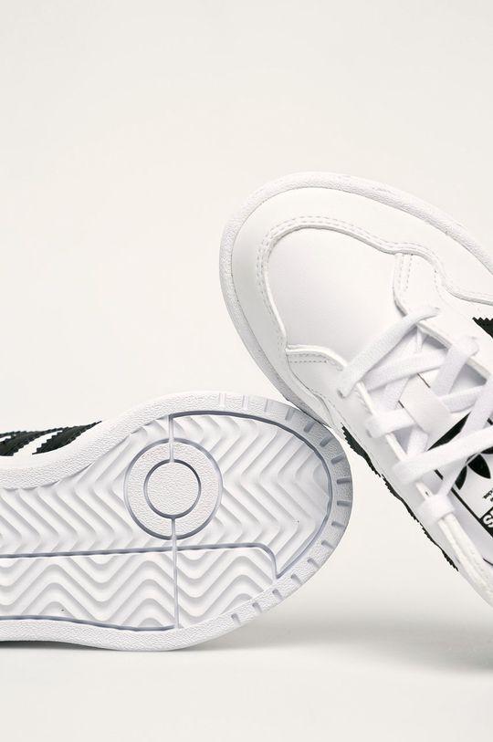 bílá adidas Originals - Dětské boty Team Court