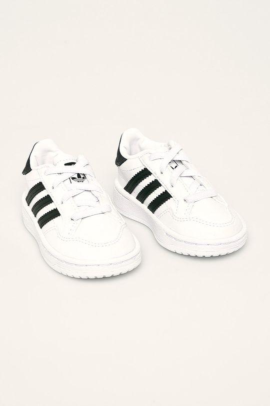 adidas Originals - Dětské boty Team Court El I bílá