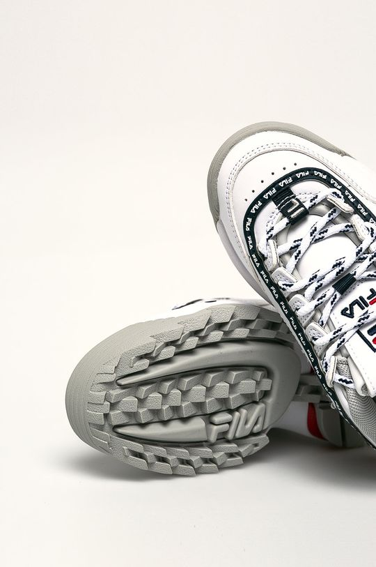 alb Fila - Pantofi copii Disruptor Logo JR
