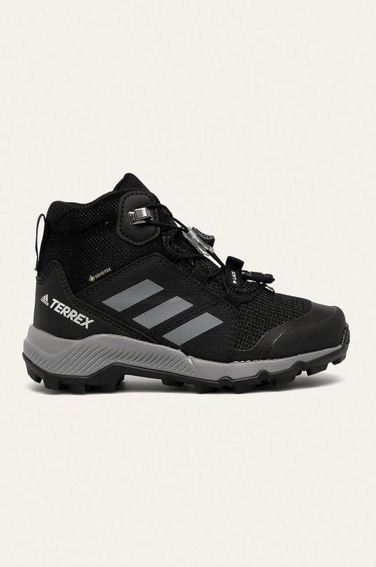 černá adidas Performance - Dětské boty Terrex Mid Gtx Dětský