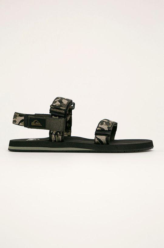 oceľová zelená Quiksilver - Sandále Pánsky