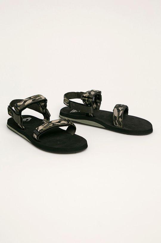 Quiksilver - Sandále oceľová zelená