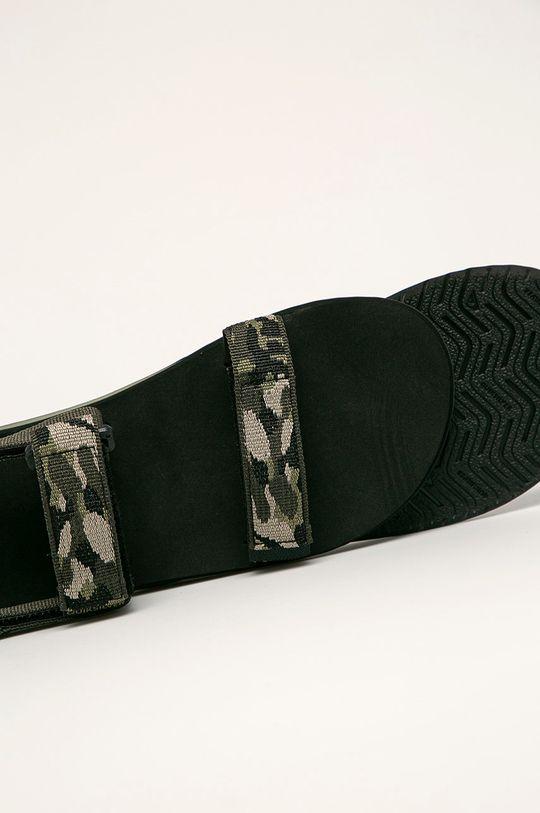 oceľová zelená Quiksilver - Sandále