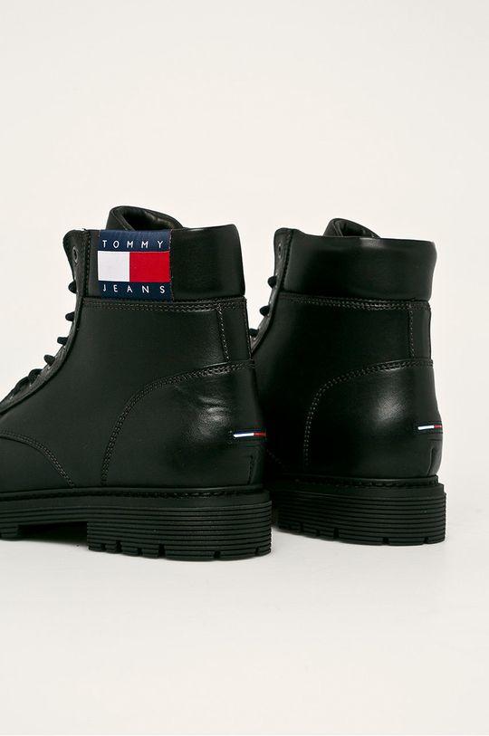 Tommy Jeans - Kožené boty Svršek: Přírodní kůže Vnitřek: Přírodní kůže, Textilní materiál Podrážka: Umělá hmota