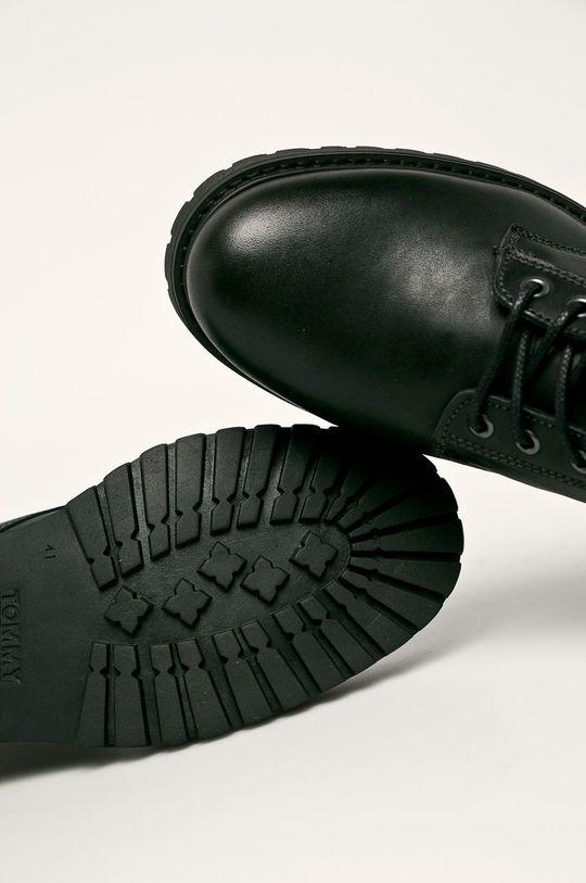 černá Tommy Jeans - Kožené boty