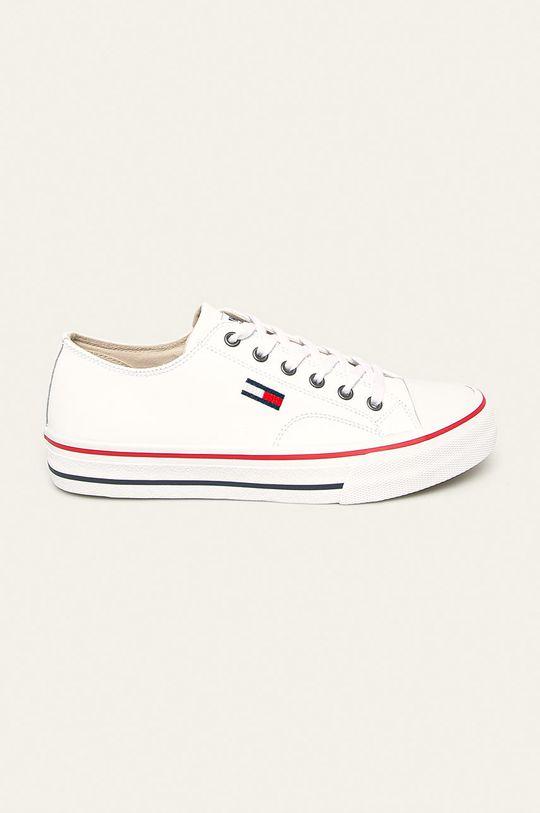 biały Tommy Jeans - Tenisówki skórzane Męski