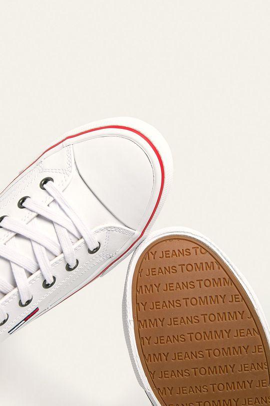 biały Tommy Jeans - Tenisówki skórzane