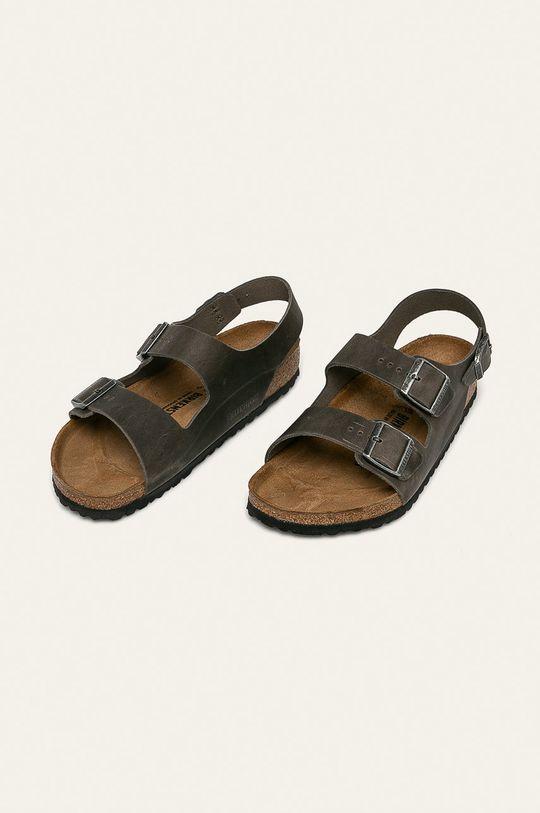 Birkenstock - Sandale de piele Milano verde