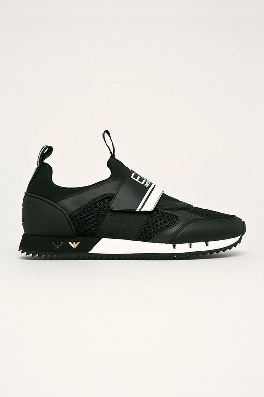čierna EA7 Emporio Armani - Topánky Pánsky