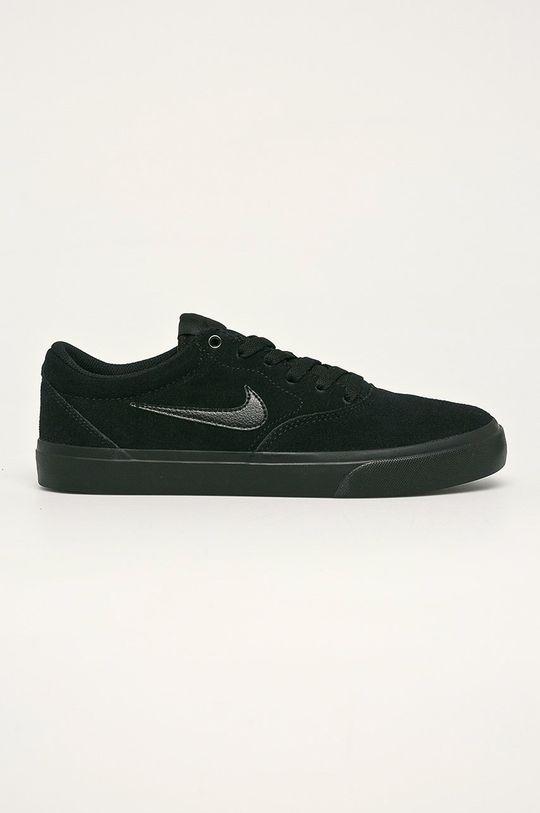 černá Nike - Kožené boty SB CHARGE SUEDE Pánský