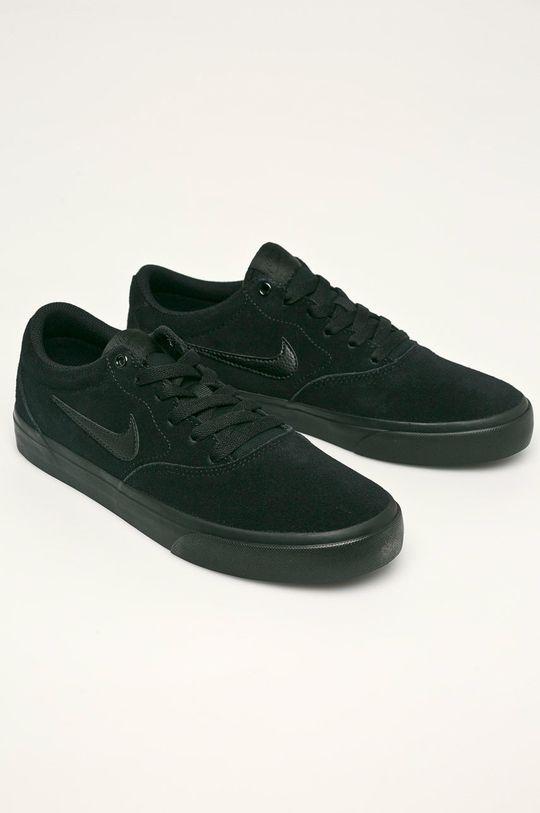 Nike - Kožené boty SB CHARGE SUEDE černá