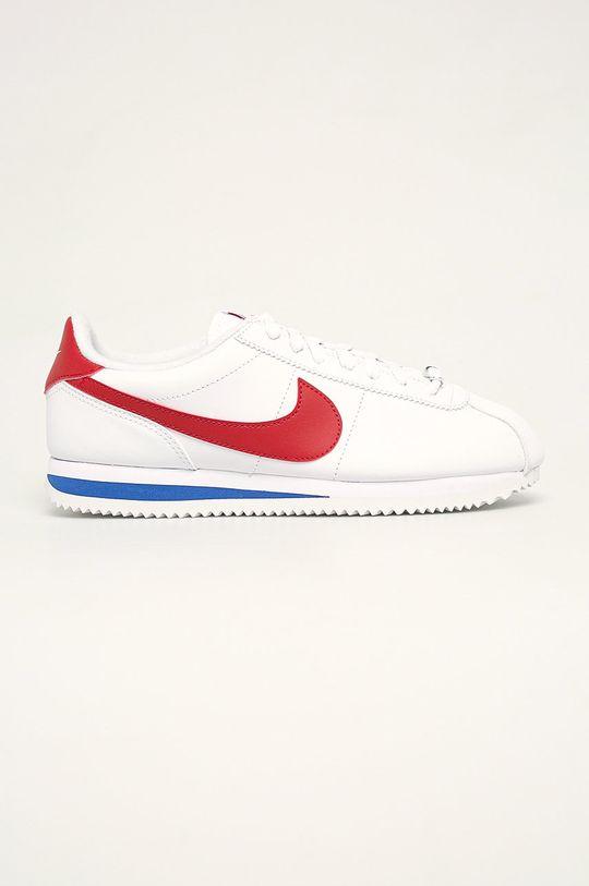 bílá Nike - Kožené boty Cortez Basic Leather Pánský