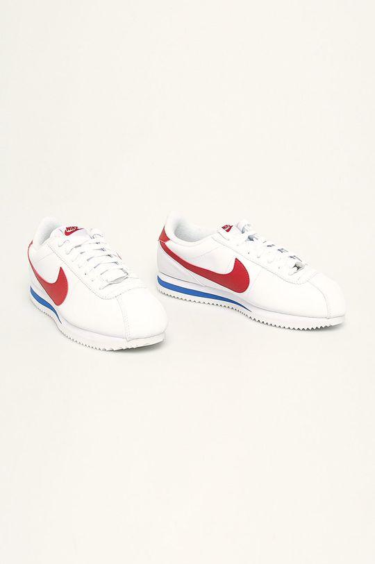 Nike - Kožené boty Cortez Basic Leather bílá