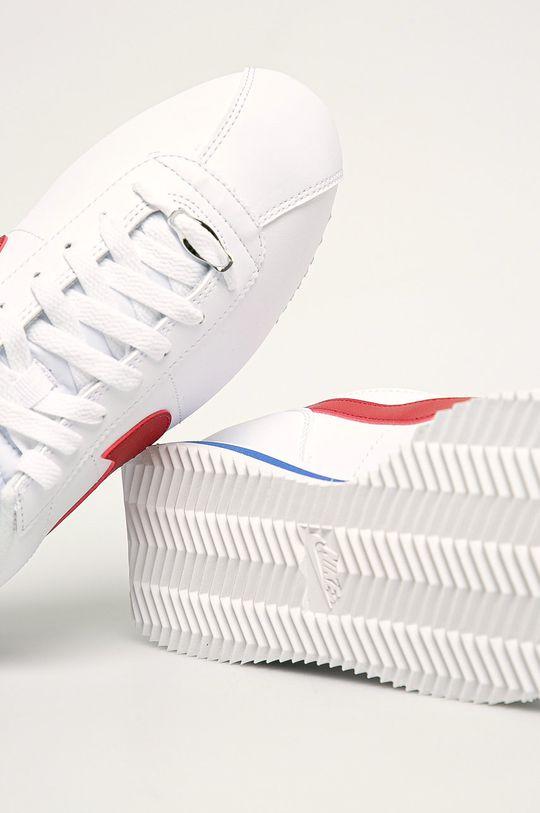 bílá Nike - Kožené boty Cortez Basic Leather