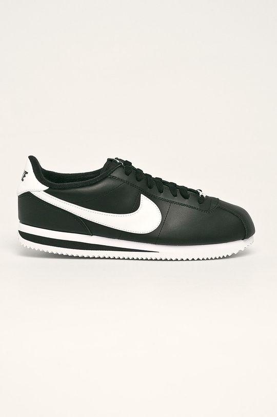 černá Nike - Kožené boty Cortez Basic Leather Pánský