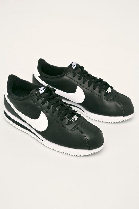 Nike - Kožené boty Cortez Basic Leather černá