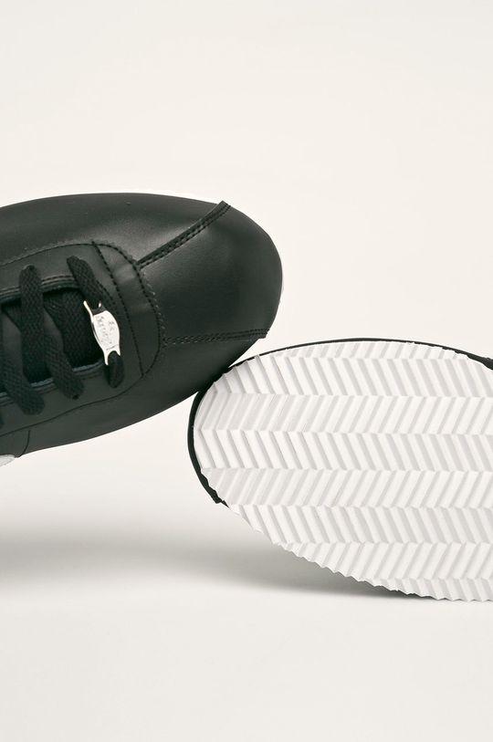 černá Nike - Kožené boty Cortez Basic Leather