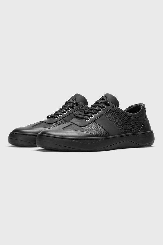 Nike - Kožená obuv Cortez Basic Leather čierna