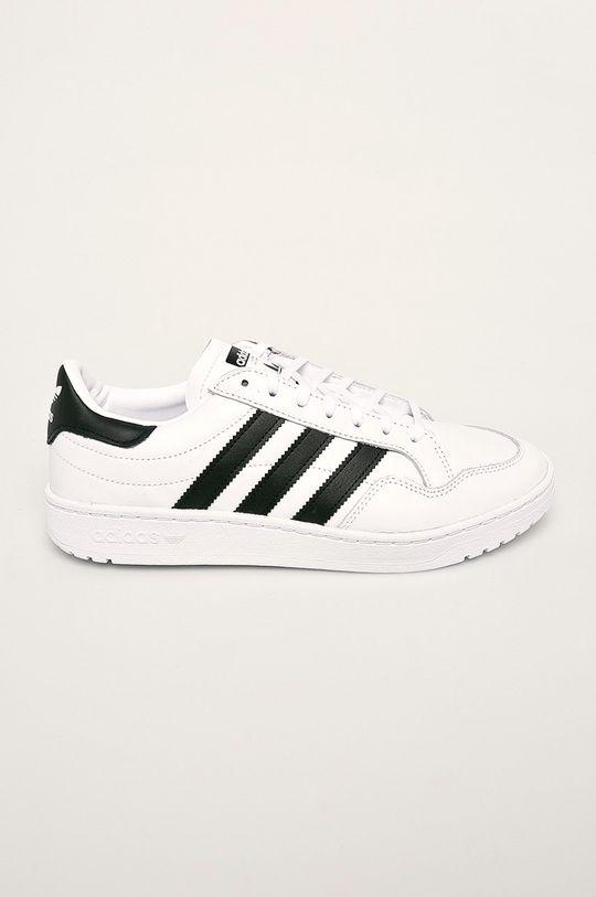 bílá adidas Originals - Kožené boty Team Court Pánský