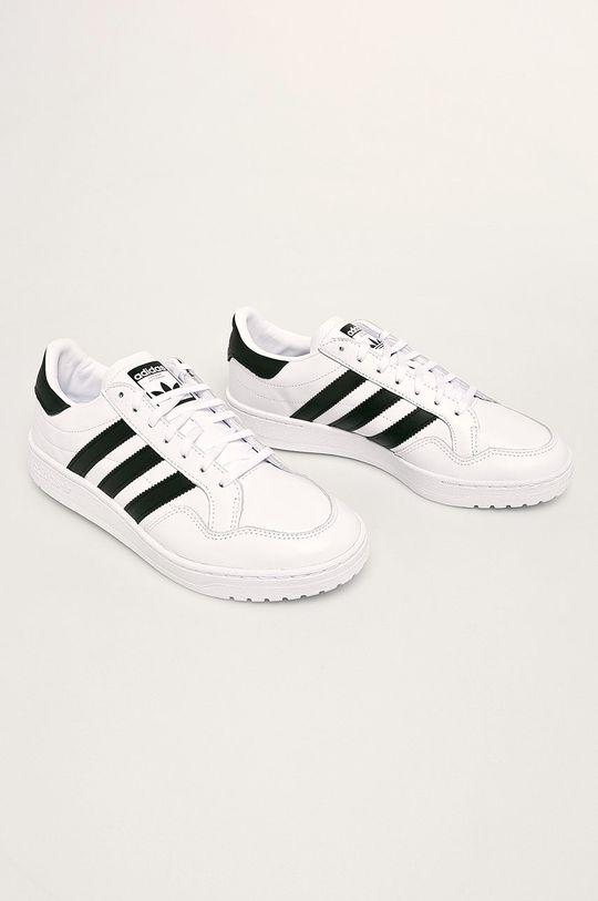 adidas Originals - Kožené boty Team Court bílá