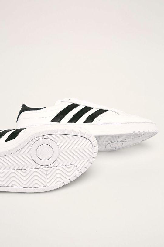 bílá adidas Originals - Kožené boty Team Court