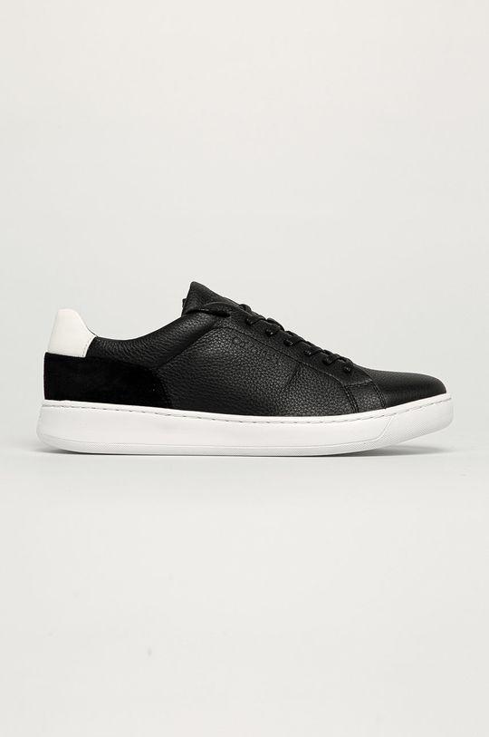 čierna Calvin Klein - Kožená obuv Pánsky