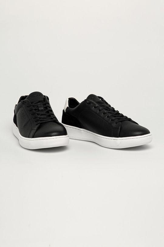 Calvin Klein - Kožená obuv čierna